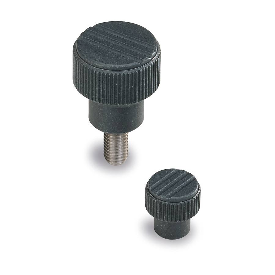 Knurled  knobs and handles : Knob with adjustable 