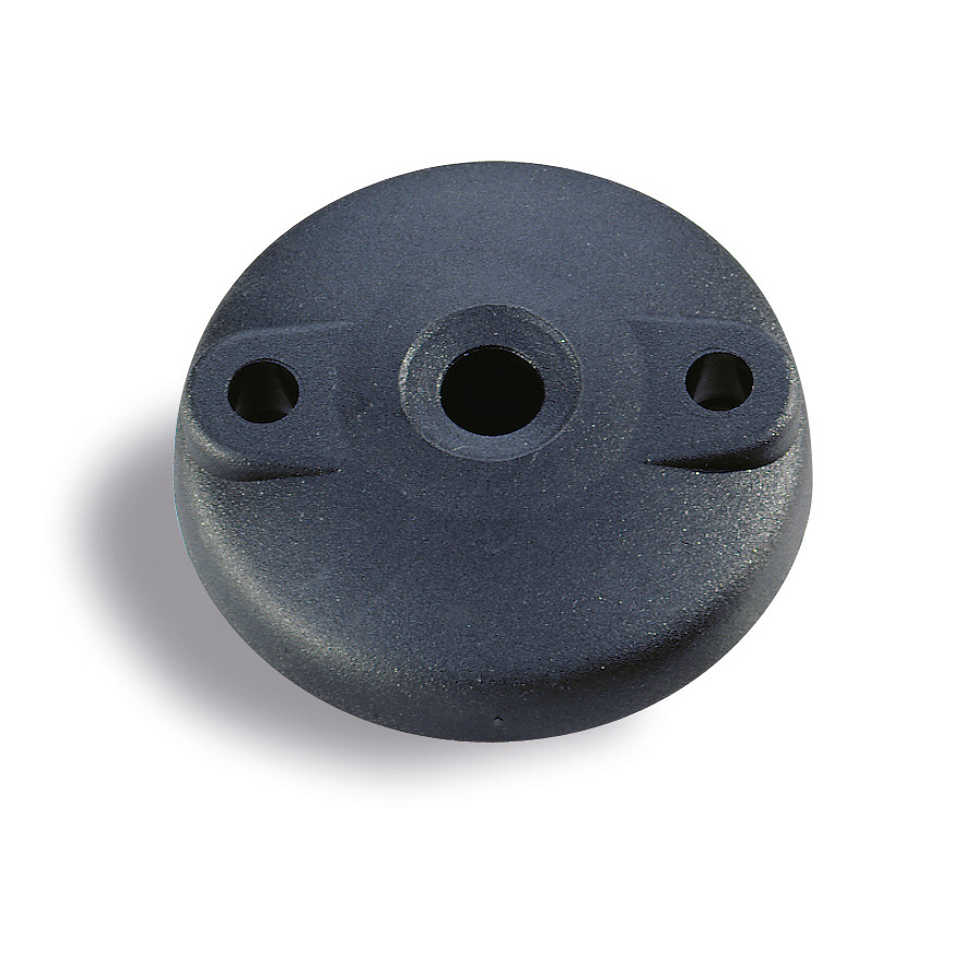 Plates for swivel pads with holes : Plastic plate for 8° swivel feet 